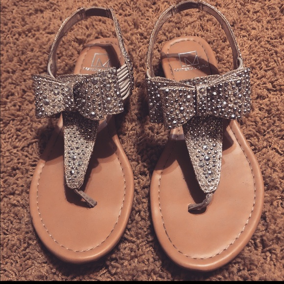 Material Girl Shoes   Bling Bow Sandals